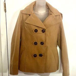 EUC pea coat, removable hood